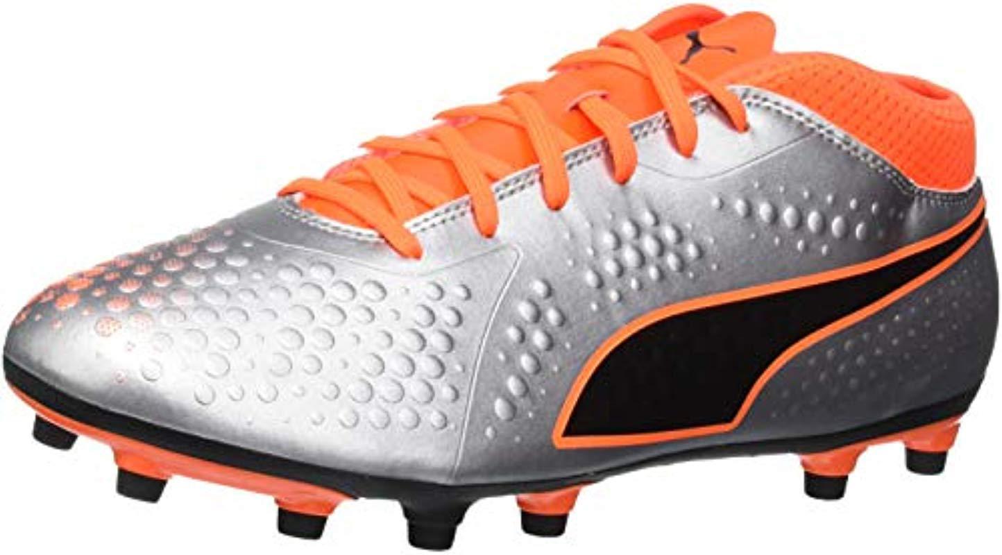 521af42152b8 Puma  s One 4 Syn Fg Footbal Shoes in Orange for Men - Lyst