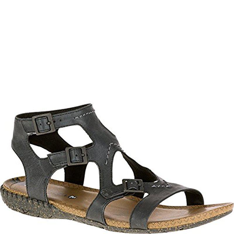 d29368c16f1d Lyst - Merrell Whisper Buckle Gladiator Sandal in Black - Save 52%