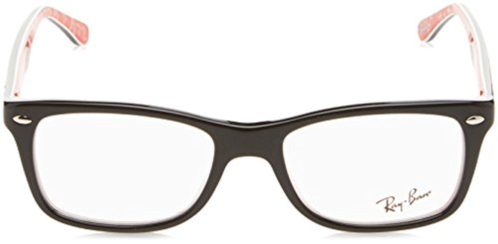 05d35b181b9a Lyst - Ray-Ban Rx 5228 Eyeglasses in Black
