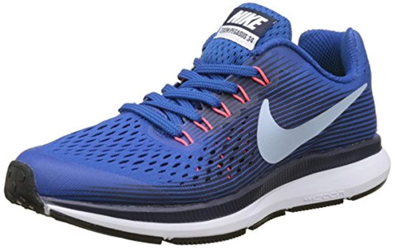 7fc54c7ce6dba Nike 's Zoom Pegasus 34 (gs) Trail Running Shoes in Blue for Men - Lyst