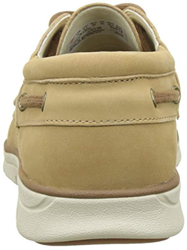 af03e7855da Timberland Bradstreet 3 Eyecroissant Nubuck Boat Shoes in Natural for Men -  Lyst