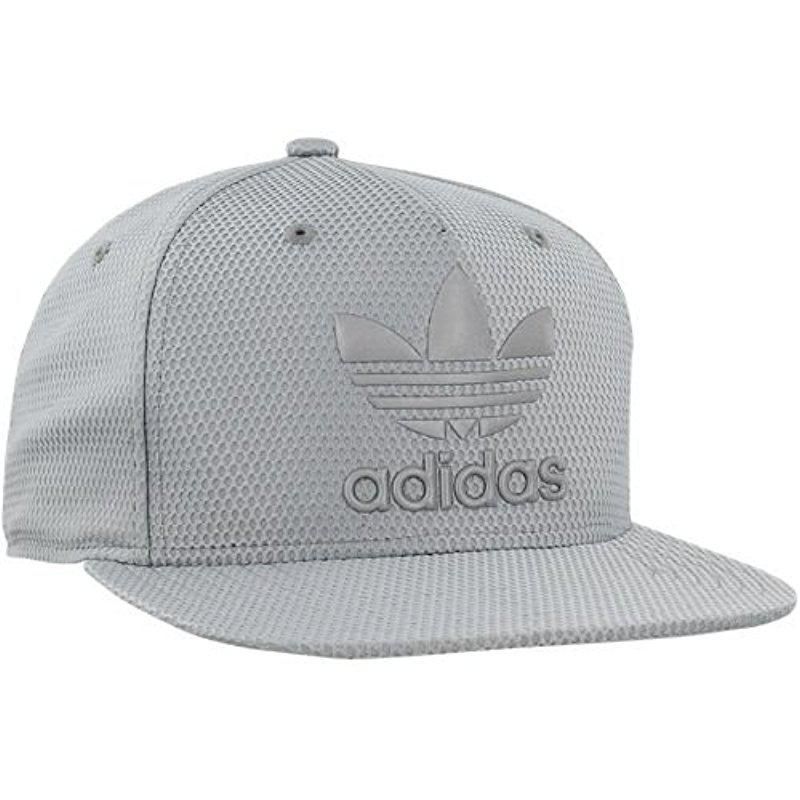 new product e23f5 e58e3 ... promo code for lyst adidas originals snapback flatbrim cap in gray for  men 243a6 92e6b