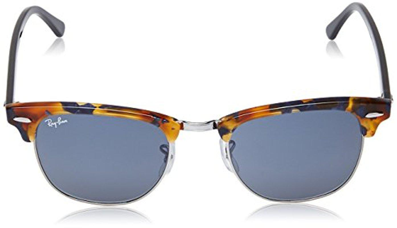 2322c49811fd5 Ray-Ban Clubmaster - Spotted Blue Havana Frame Grey Lenses 51mm Non ...