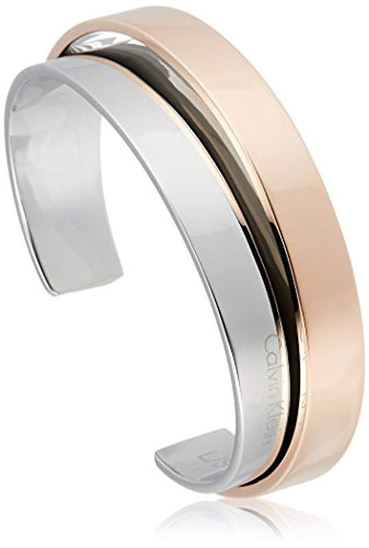 7e5edff855e8 Calvin Klein - Metallic Brazalete Mujer acero inoxidable - Lyst. Ver en  pantalla completa