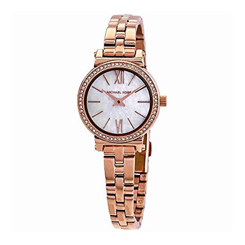 Lyst Michael Kors Women S Sofie Rose Gold Tone Watch In Metallic