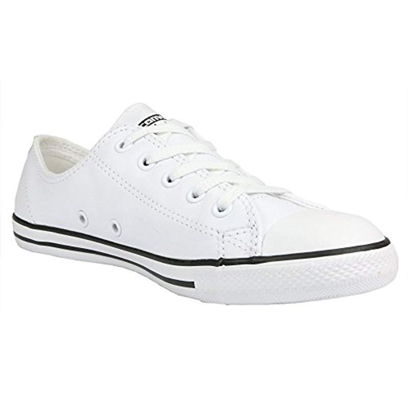 5059340d3262 Converse Unisex-adult Dainty Leath Ox Trainers in White - Lyst