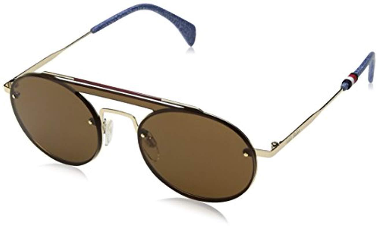 109c8acc2a Lyst - Tommy Hilfiger Gigi Hadid 3 s Round Sunglasses 0j5g 70 99 Mm