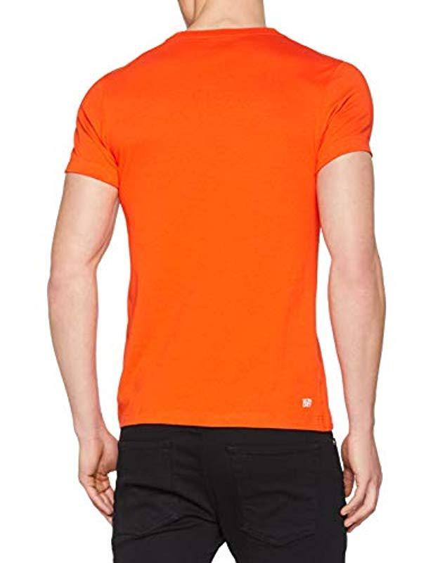 a542413901 TH3377 - T-Shirt - Lacoste pour homme en coloris Orange - Lyst