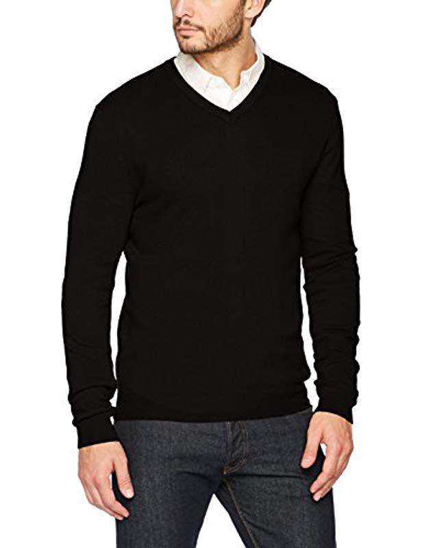 Sweatshirt Lyst Men Black Ls Sweater Neck In For V Benetton IqwgBB