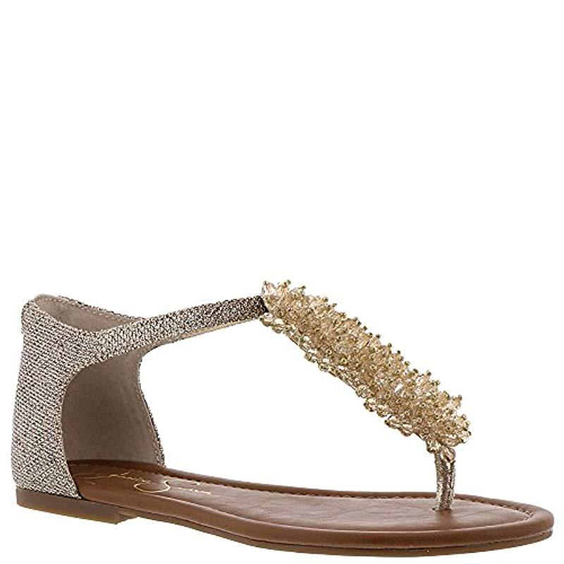 6800bdb1bfc0 Lyst - Jessica Simpson Kenton Sandal in Metallic
