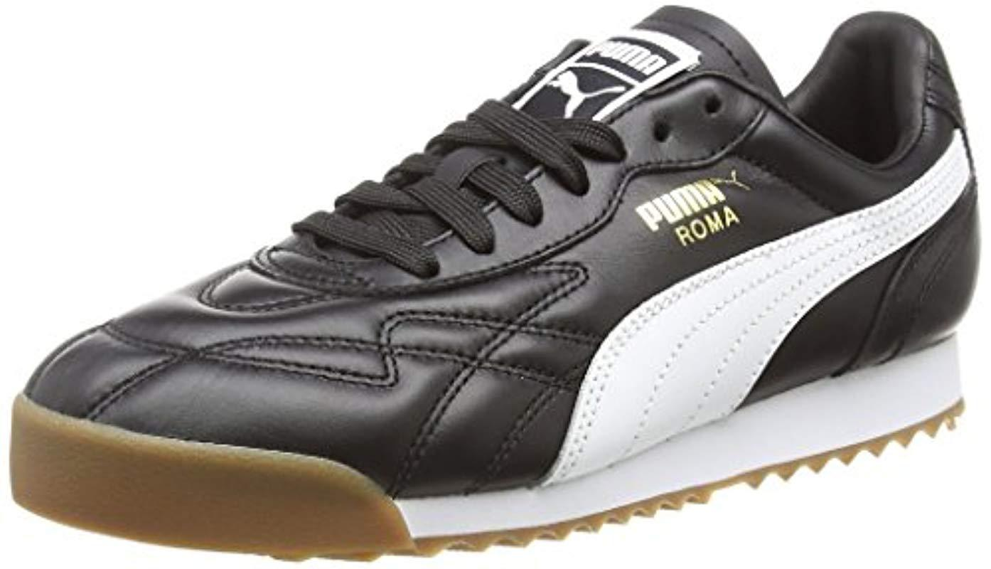 a6817dab842d Puma Unisex Adults  Roma Anniversario Low-top Sneakers in Black for ...