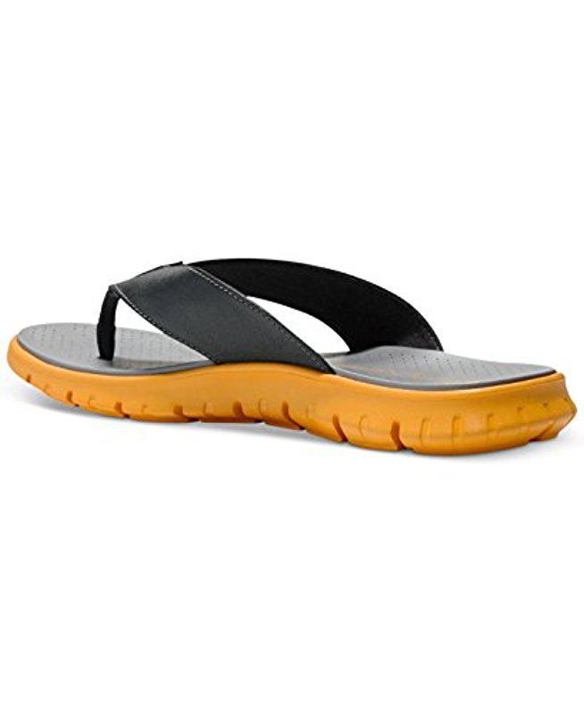 Cole Haan. Men's Gray Zerogrand Thong Sandal
