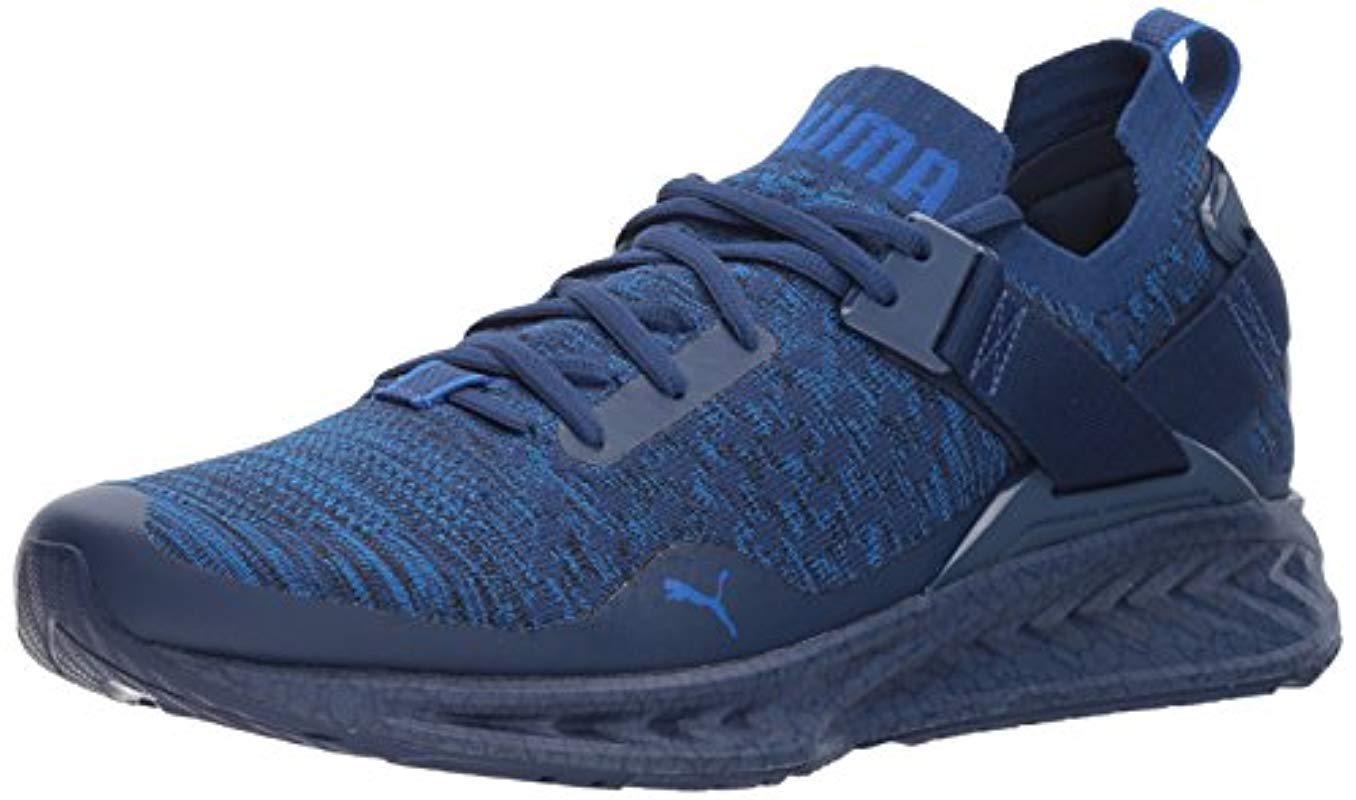 36d8a8d2886 Mens Blue Ignite Evoknit Lo Hypernature Sneaker wide varieties 03e64 2d577  Puma  Men Black Puma Sneakers ...