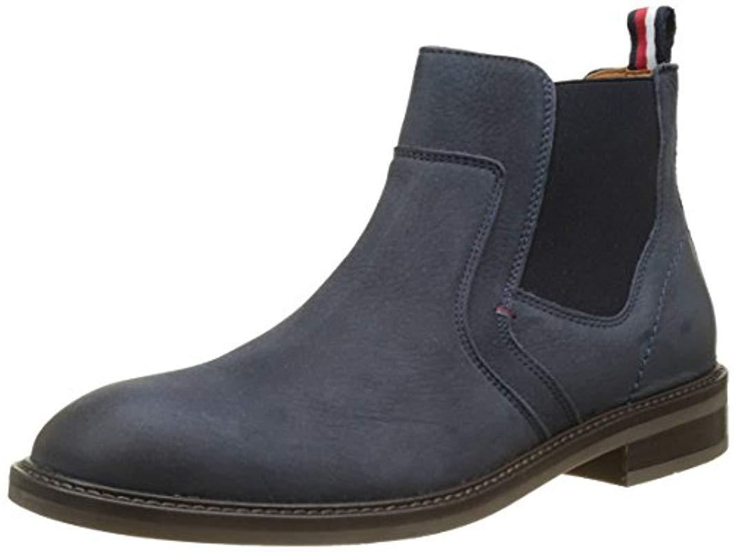 9533aeb87 Tommy Hilfiger  s R2285ounder 2n Chelsea Boots in Blue for Men - Lyst