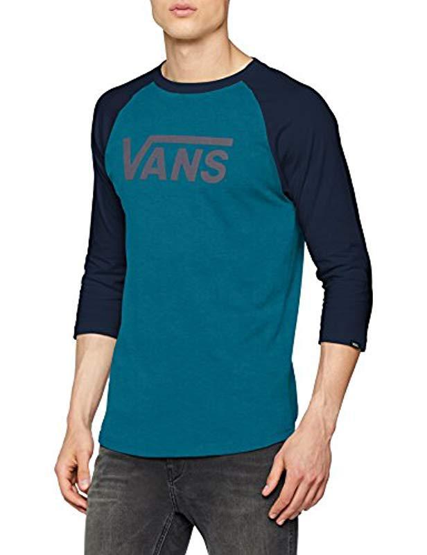 5e8dac891a Vans - Blue Classic Raglan T-shirt for Men - Lyst. View fullscreen