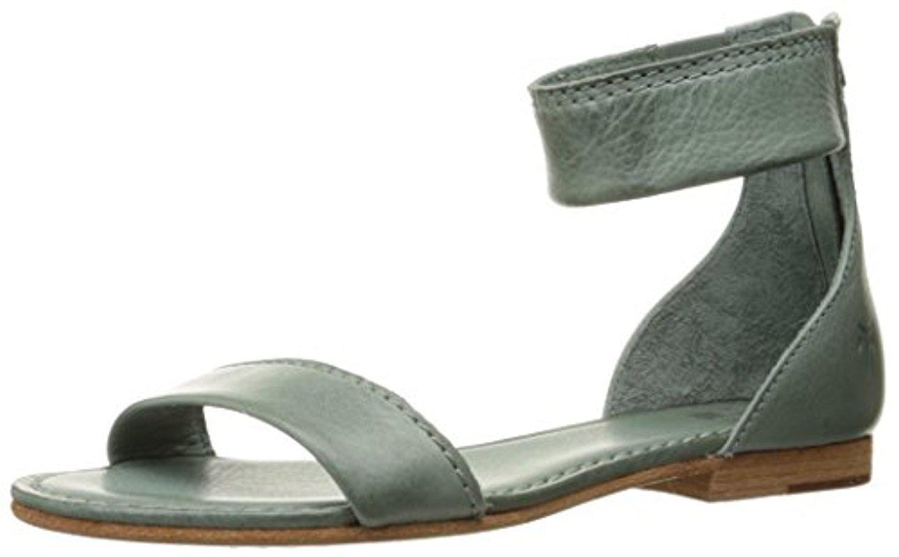 fd094a4b3255d Lyst - Frye Carson Ankle Zip Gladiator Sandal in Green