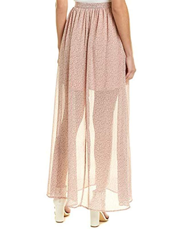 ebe23f17897 Lyst - French Connection Elao Maxi Sheer Floral Printed Skirt in Pink -  Save 54%