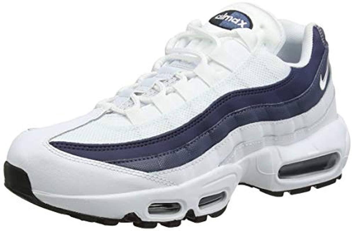 promo code e89b1 2cf63 Nike. Men s White Air Max 95 Essential Running Shoes