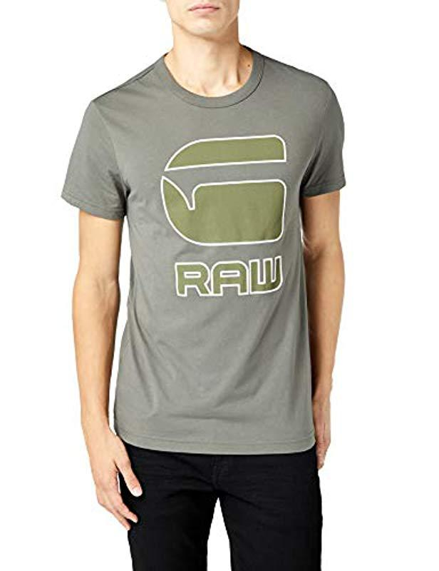 a1f43482dae G-Star RAW Men's Cadulor Graphic-print Cotton T-shirt in Gray for ...