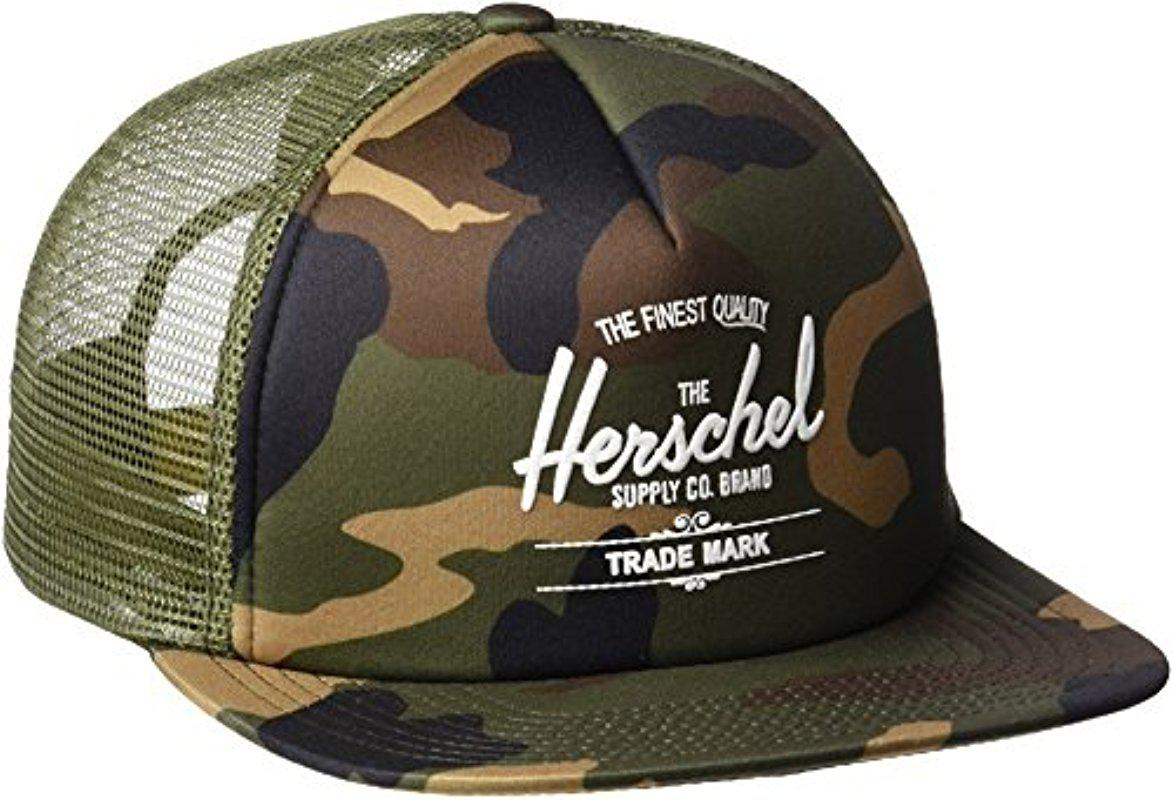 c27377055c0 Lyst - Herschel Supply Co. Whaler Mesh Hat in Green for Men