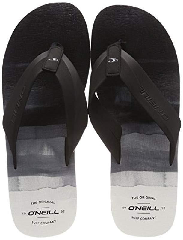 f1a0bbd648485 O neill Sportswear. Men s Black  s Fm Imprint Pattern Flip Flops Beach And  Pool Shoes ...