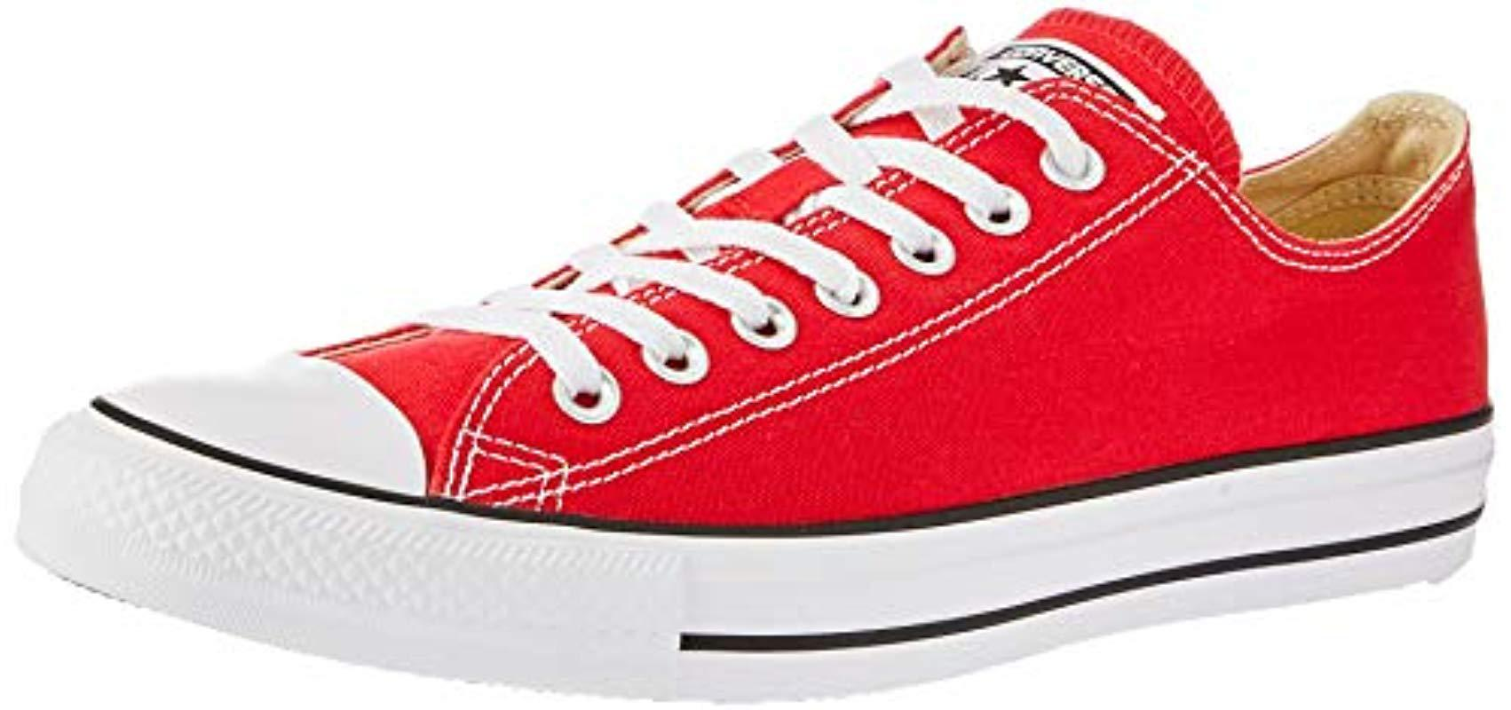 9ffa4af2e73487 Converse Unisex Chuck Taylor As Double Tongue Ox Lace-up in Red for ...