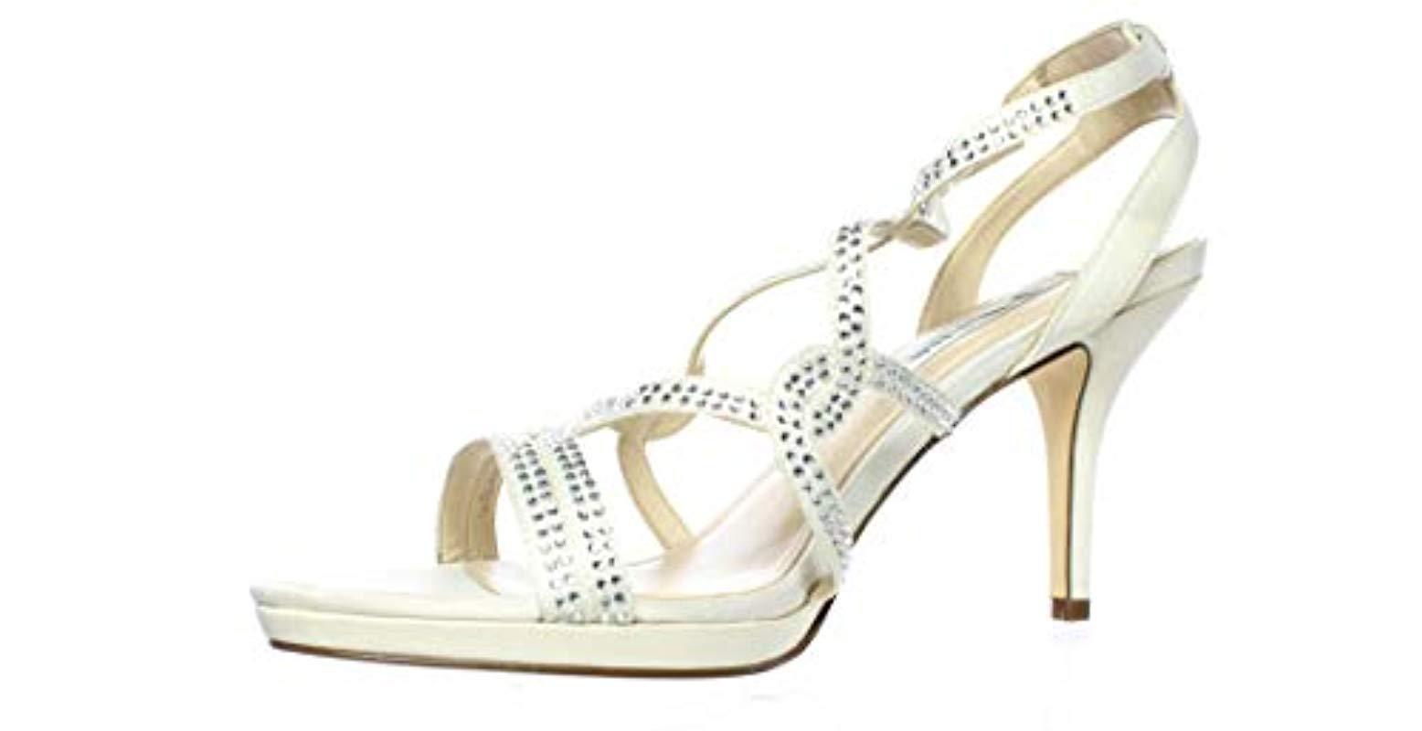 9b48f403e816d4 Nina - White Varsha Yf Dress Sandal - Lyst. View fullscreen