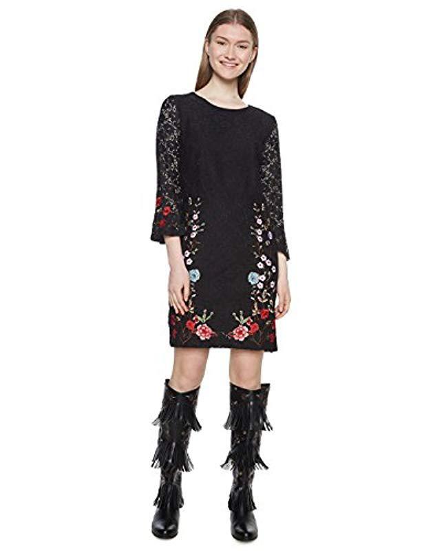 Desigual Vest_vermond Dress in Black - Lyst