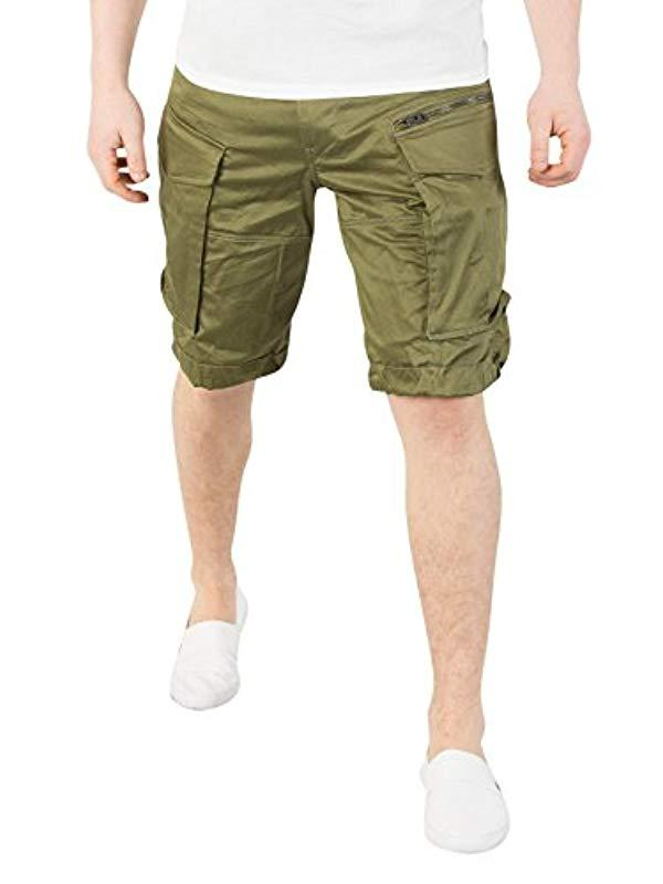 cc3dbe8425 G-Star RAW Rovic Zip Loose 1/2 Short in Green for Men - Save 21% - Lyst