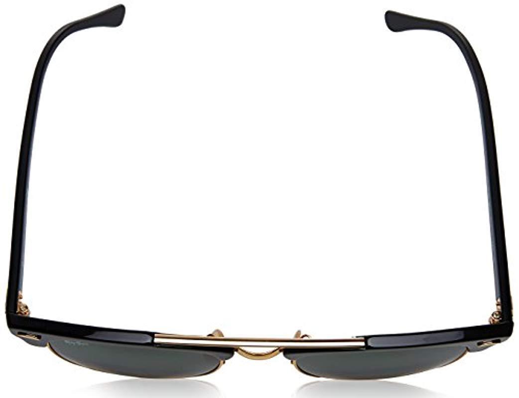 fe2b4fe0069 Ray-Ban - Clubmaster Double Bridge Sunglasses In Black Rb3816 901 51 -  Lyst. View fullscreen