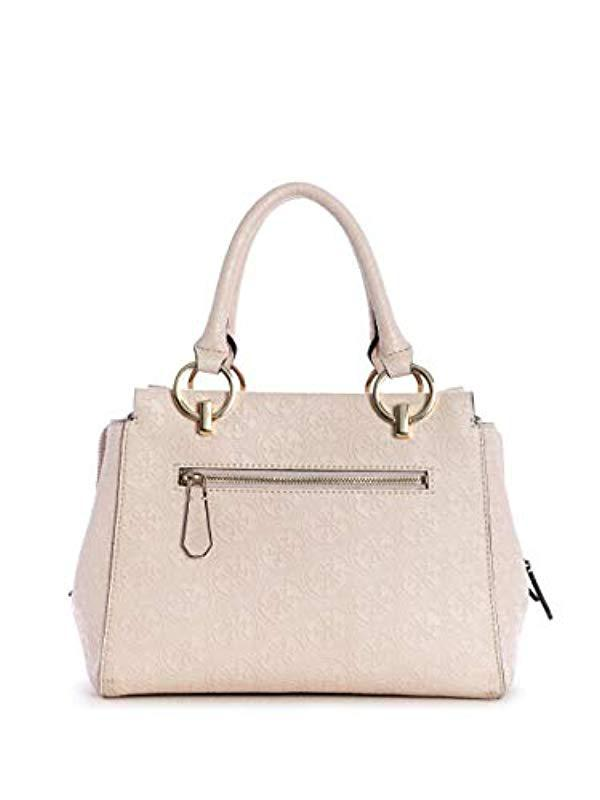 Lyst - Guess Heritage Pop Girlfriend Satchel in Pink fec30be5d9c8c