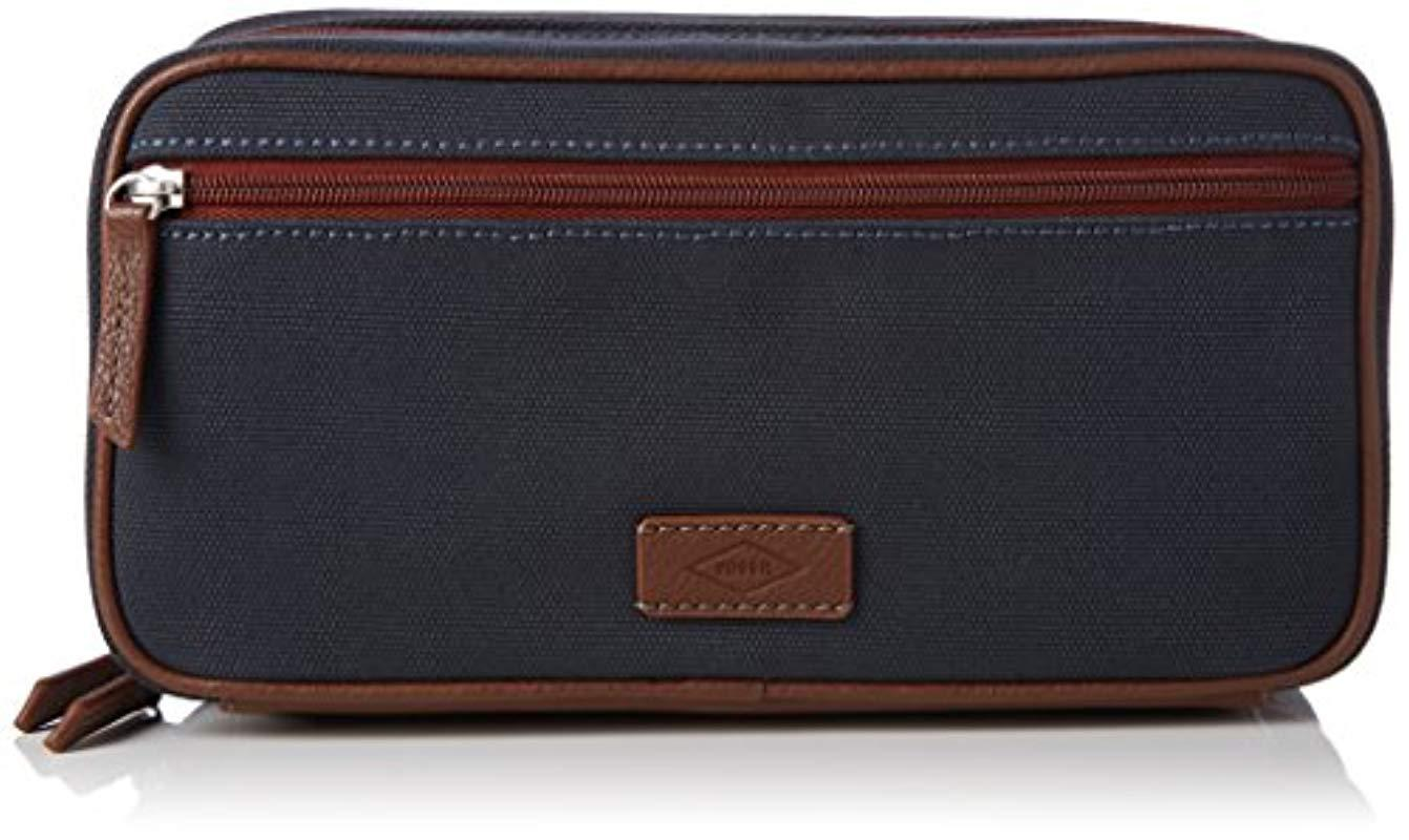 Men In 's Shave Organiser Kit Bag Blue For Lyst Fossil H4Aq6nw