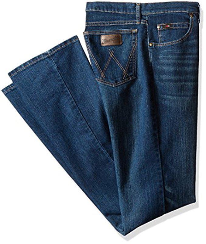 fc586c85 Wrangler. Men's Blue Tall 20x Tall Advanced Comfort Competition Slim Fit  Barrel Jean
