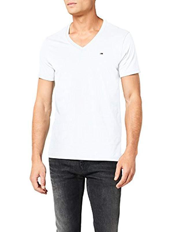 0d744b10 Tommy Hilfiger Original V-neck Short Sleeve T-shirt in White for Men ...