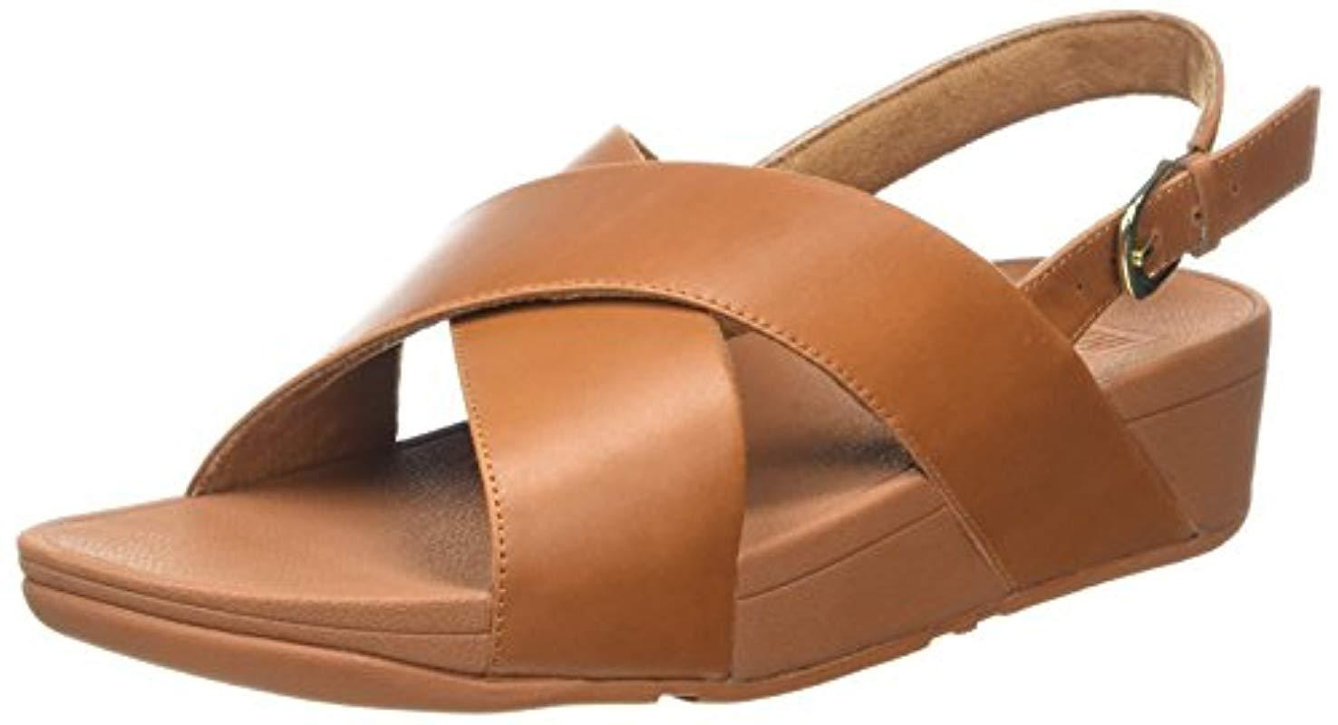 65d287441760 Fitflop Lulu Cross Back-strap Sandals in Brown - Save 49% - Lyst