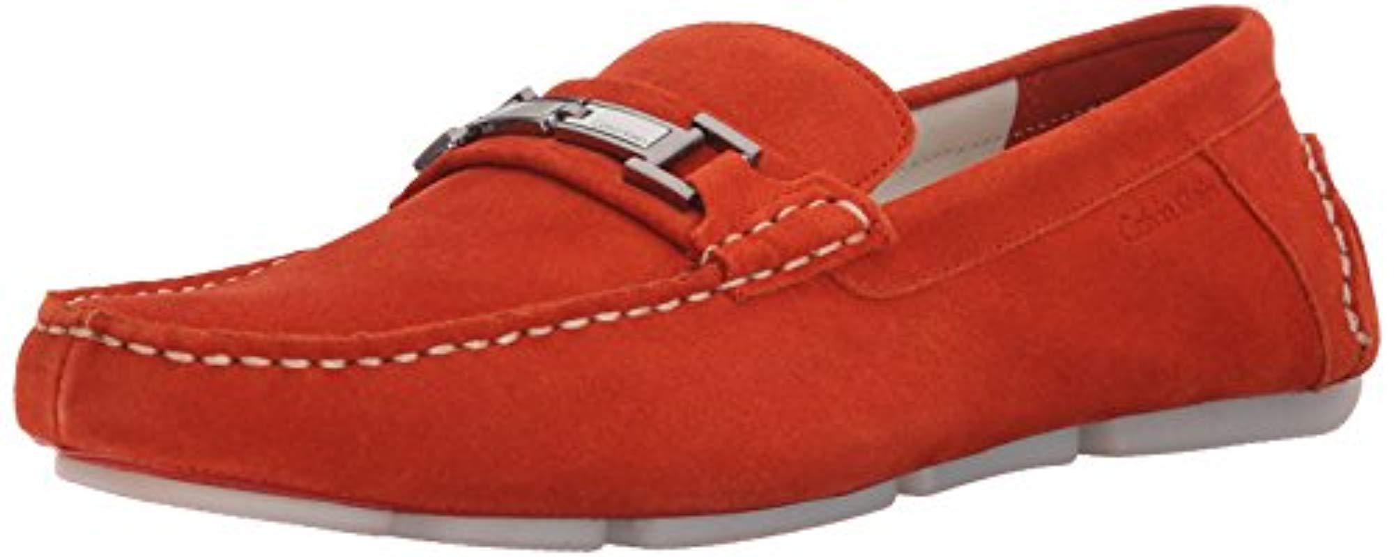 8119624a535 Lyst - Calvin Klein Magnus Slip-on Loafer in Red for Men