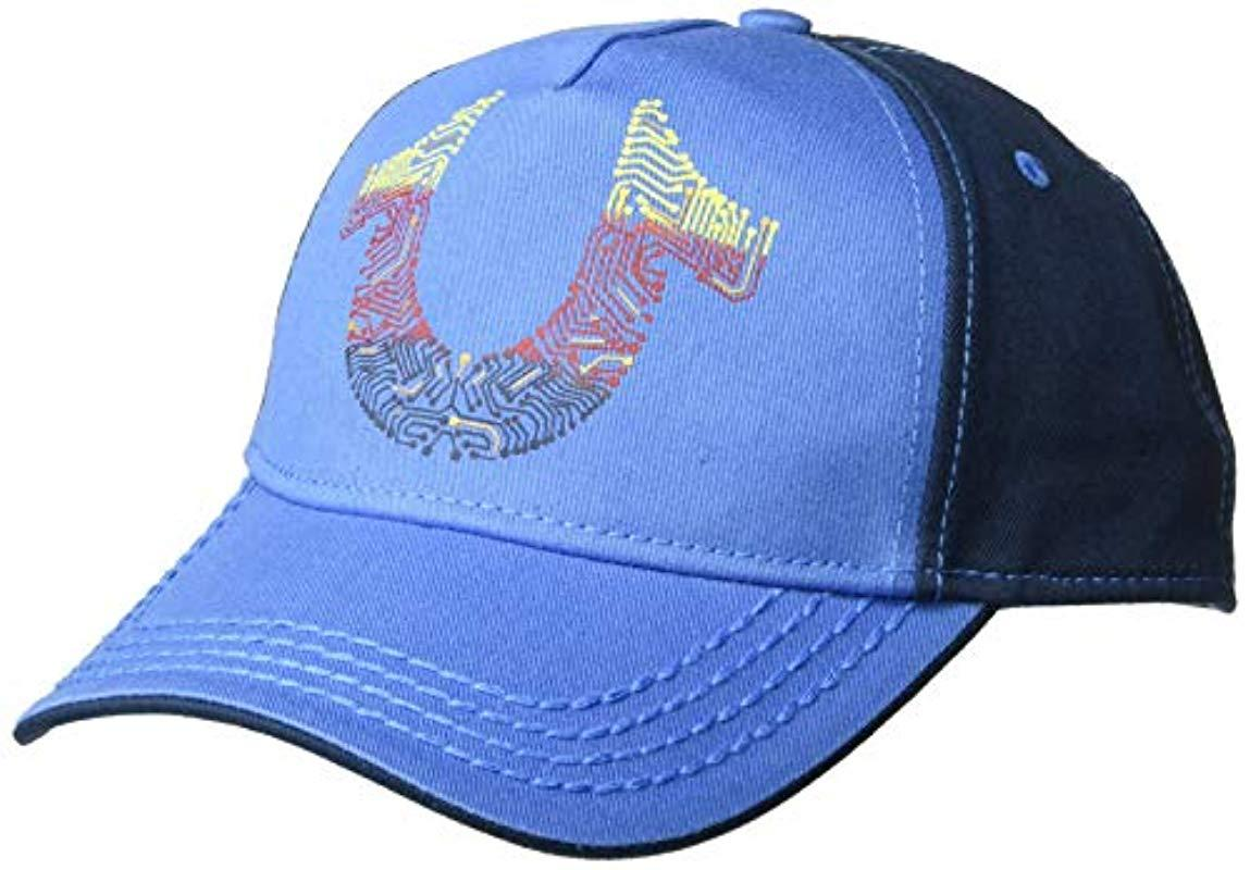 e97a80d15cd56 Lyst - True Religion Digital Horseshoe Ball Cap in Blue for Men