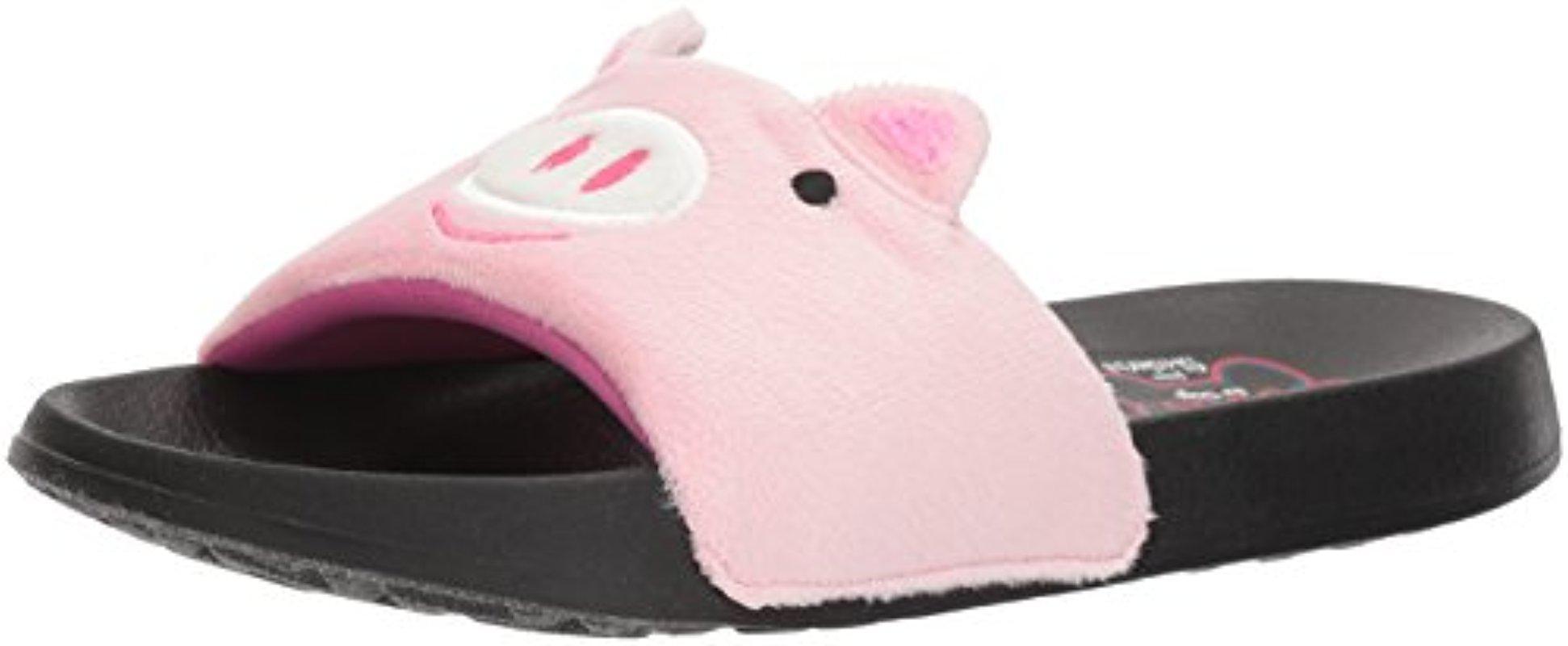 BOBS From Women's 2nd Take-Plush Animal Slide Sandal