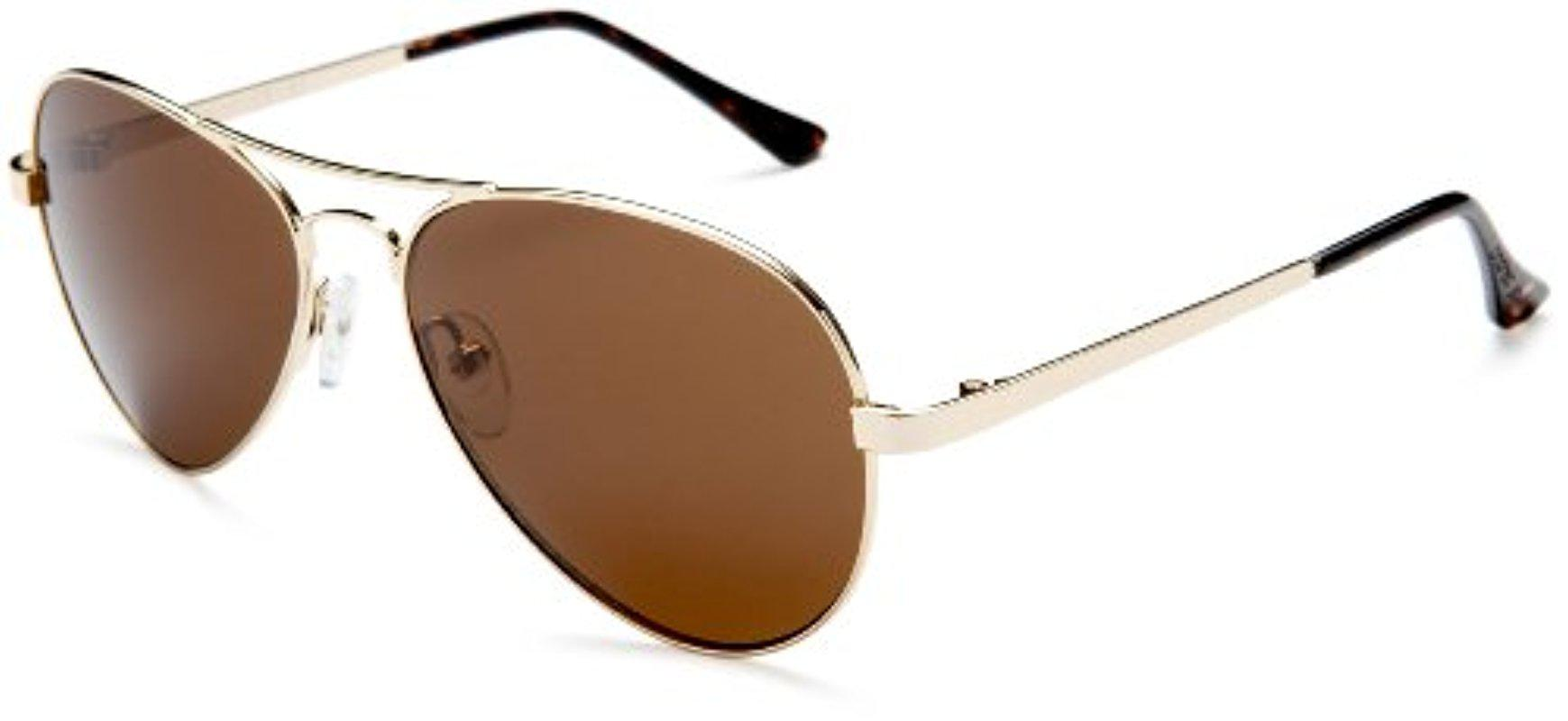 9892a40434 Lyst - Andrea Jovine A652 Aviator Sunglasses in Brown