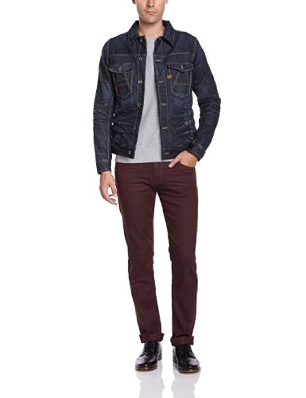 987f3868f8a2 G-Star Raw A Crot Slim Jkt Long Sleeve Jacket in Blue for Men - Lyst