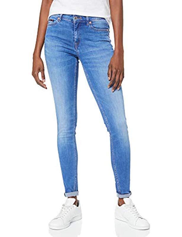 2bdfe0f0 Tommy Hilfiger - Blue Mid Rise Skinny Nora Azlb Jeans - Lyst. View  fullscreen