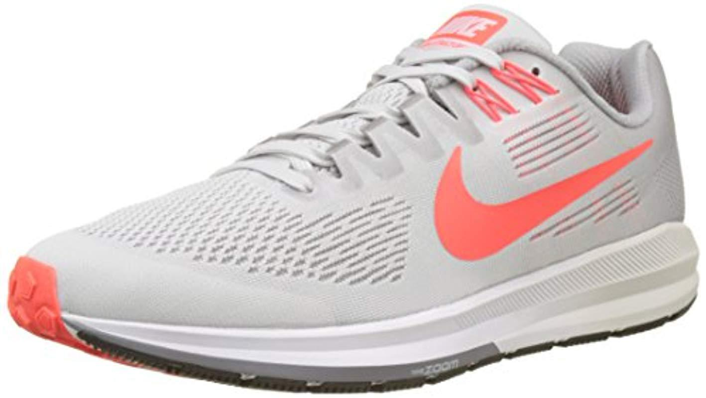 da0078b34f7e3 Nike  s Air Zoom Structure 21 Running Shoes in Gray for Men - Save ...
