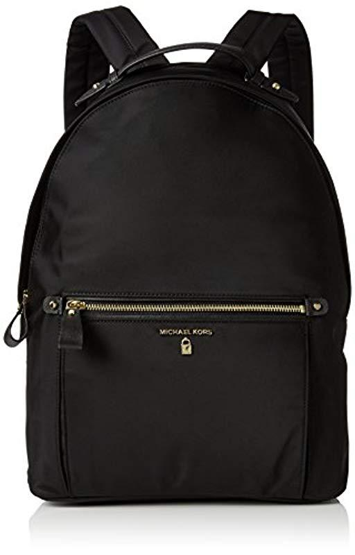 9886b7967d2fbb Michael Kors Michael By Kelsey Black Nylon Large Backpack in Black ...