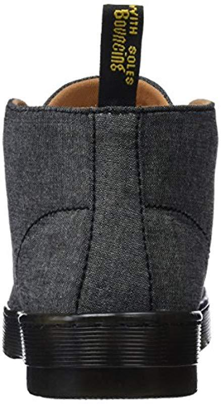 3dfeebc1557d Dr martens mayport black chambray twill desert boots in black jpeg 438x800 Mayport  chambray