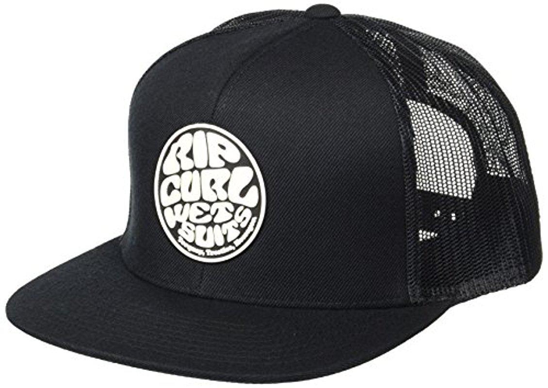 dc6bb920bcd05b Rip Curl Wettie Trucker Hat in Black for Men - Lyst