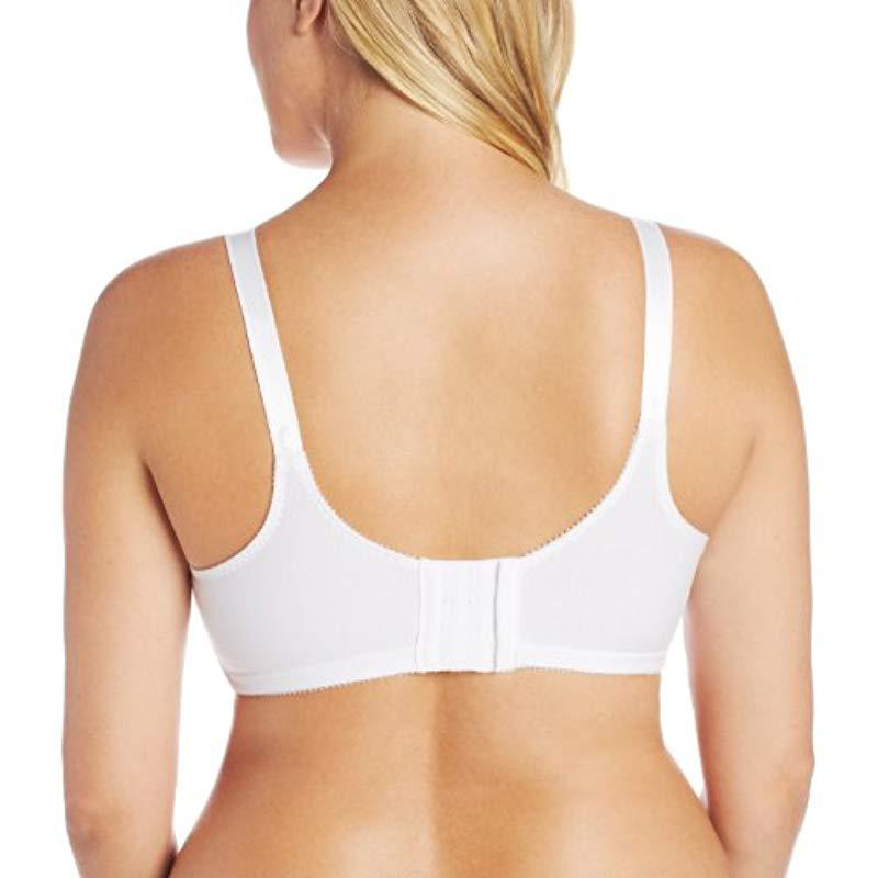 6319260bb58bc Bali - White Double-support Cotton Wire-free Bra  3036 - Lyst. View  fullscreen