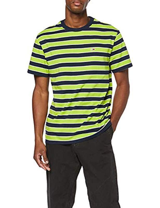 920025a3 Tommy Hilfiger Tjm Bold Stripe Tee Short Sleeve T in Green for Men ...