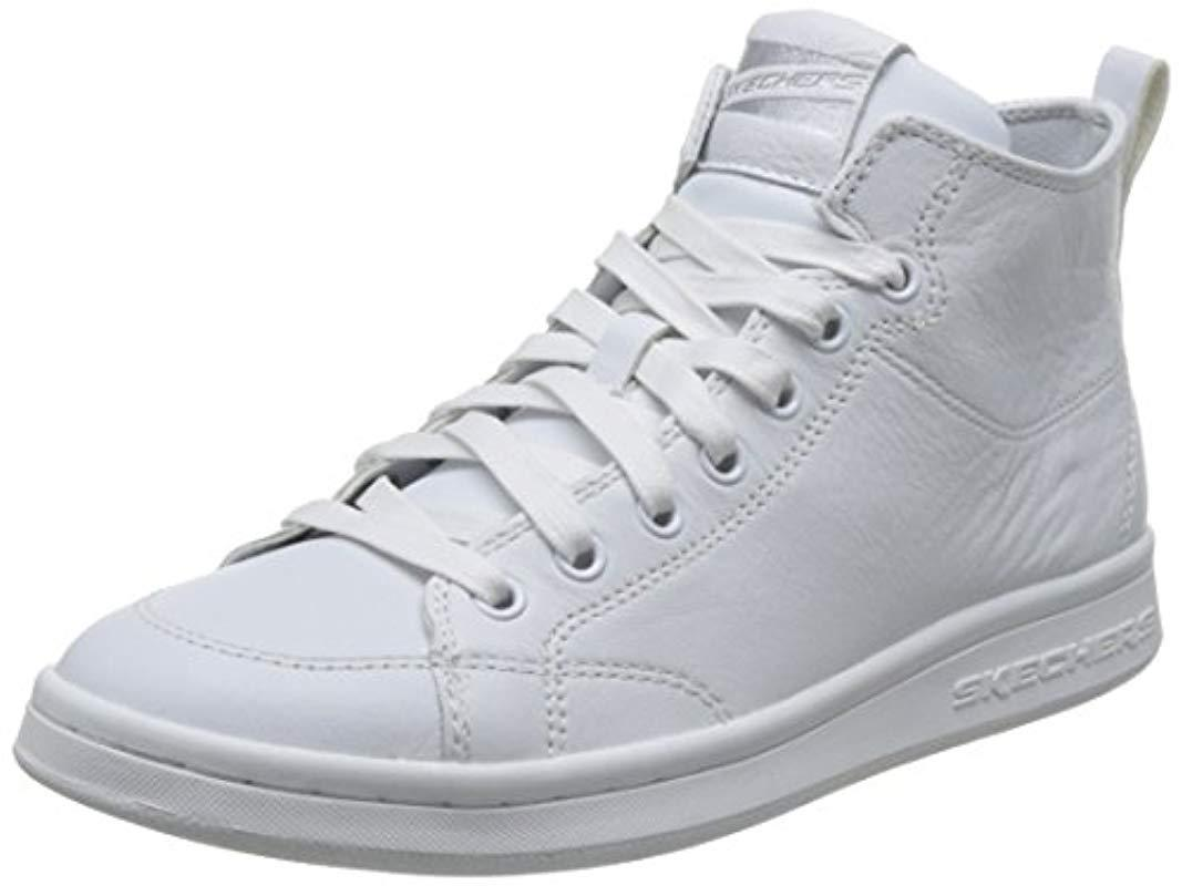1ddfd18223a9 Skechers  s Omne-midtown Hi-top Sneakers in White - Lyst
