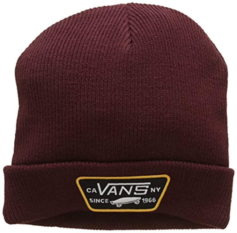 53e420469bf Vans Milford Beanie in Red for Men - Lyst