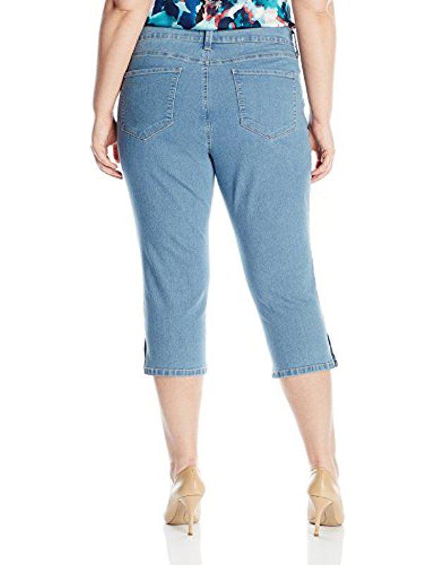 bba3180bbe434 Lyst - Nydj Plus Size Novelty Ariel Crop Jeans in Blue